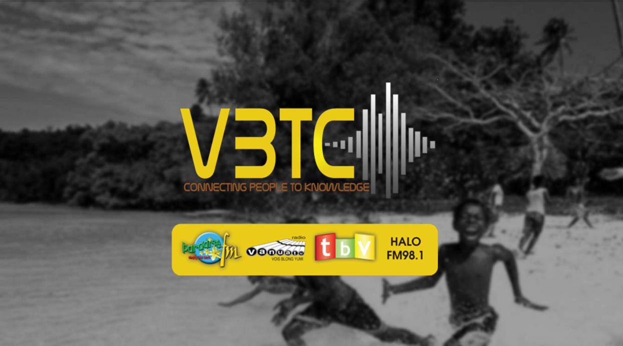 Screenshot der Homepage vom Rundfunk auf Vanuatu.