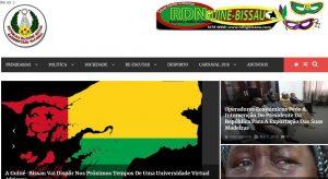 Neue Website von RDN Guinea Bissau (Screenshot)