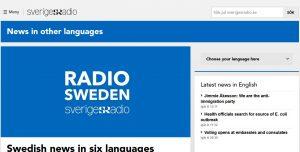 Neue internationale Website von Radio Schweden