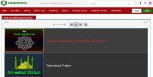 Web-Streams von Radio Pakistan