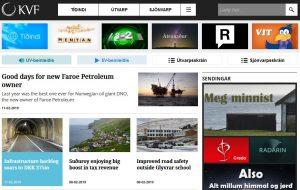 Screenshot: Neues englischsprachiges Nachrichtenangebot von Kringvarp Føroya.